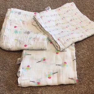 Aden by aden+anais muslin blankets.